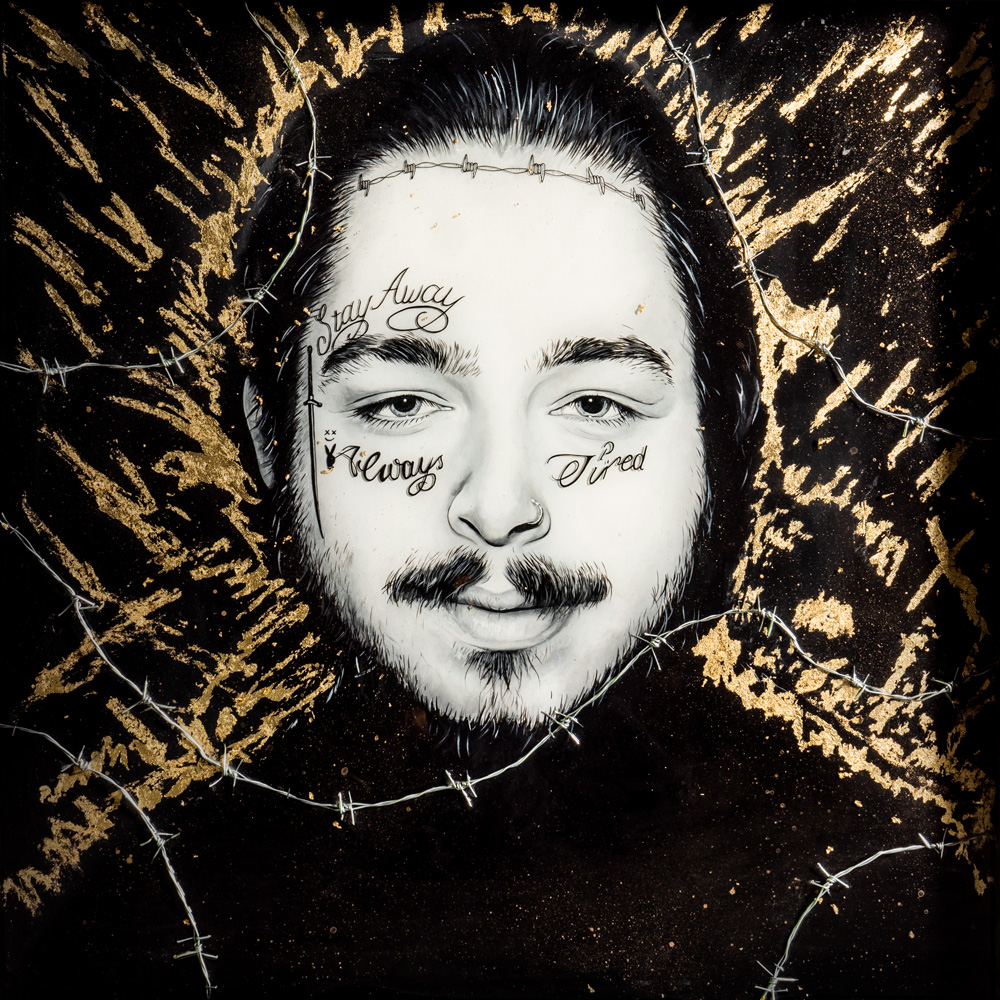 Copy of Post Malone Original Resin Painting