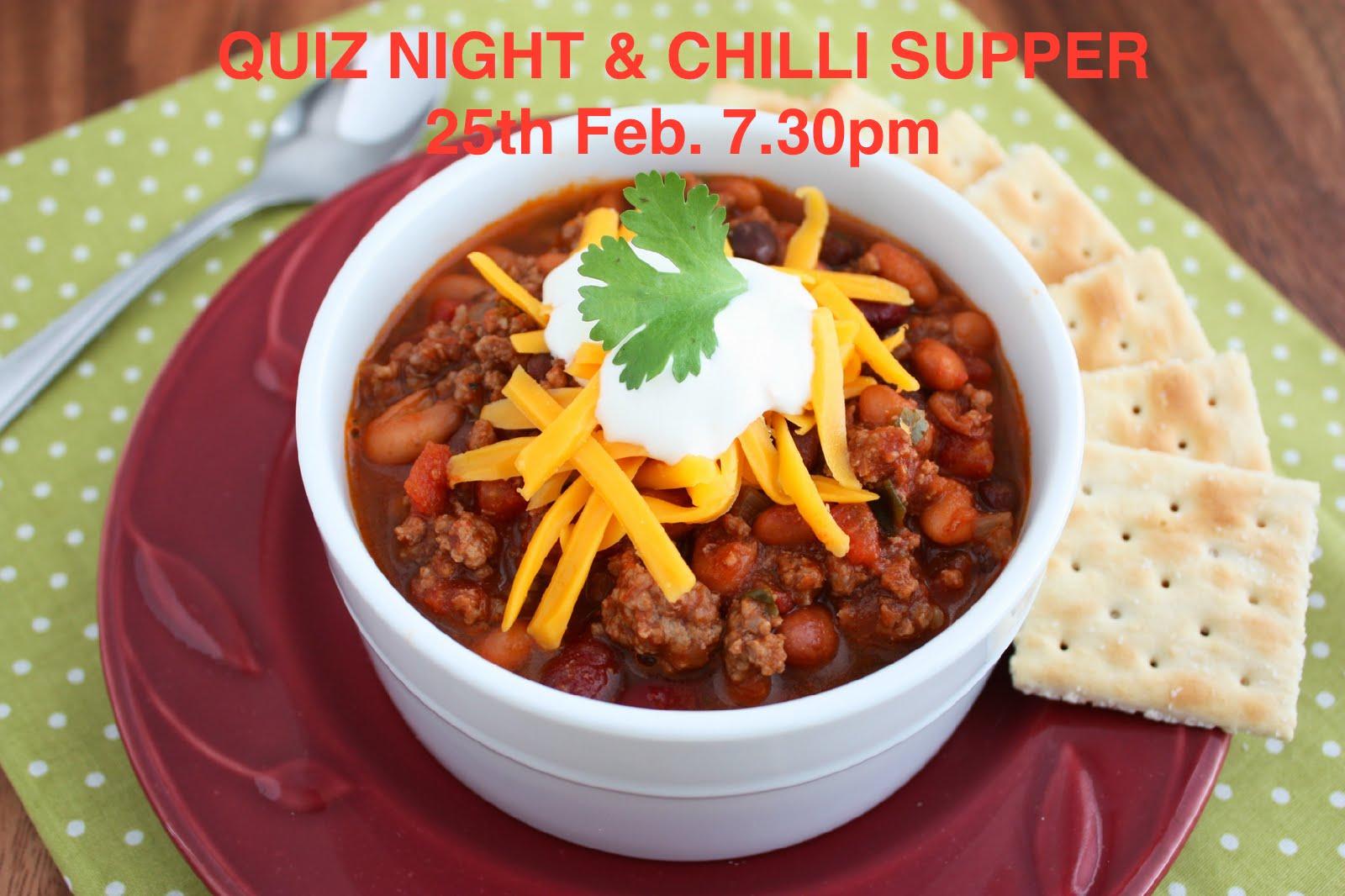 Quiz Night & Chilli Supper