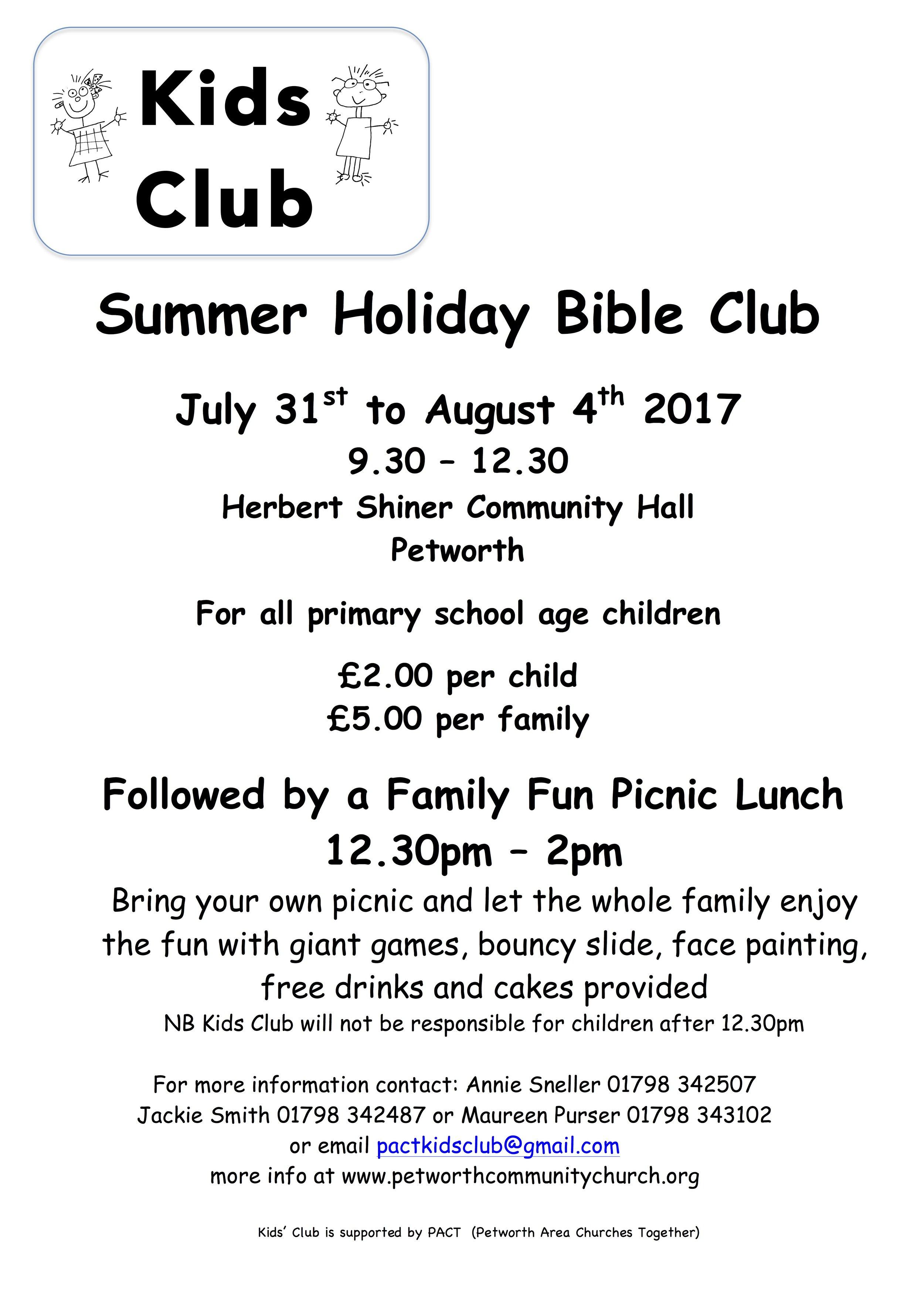 Summer Holiday Bible Club