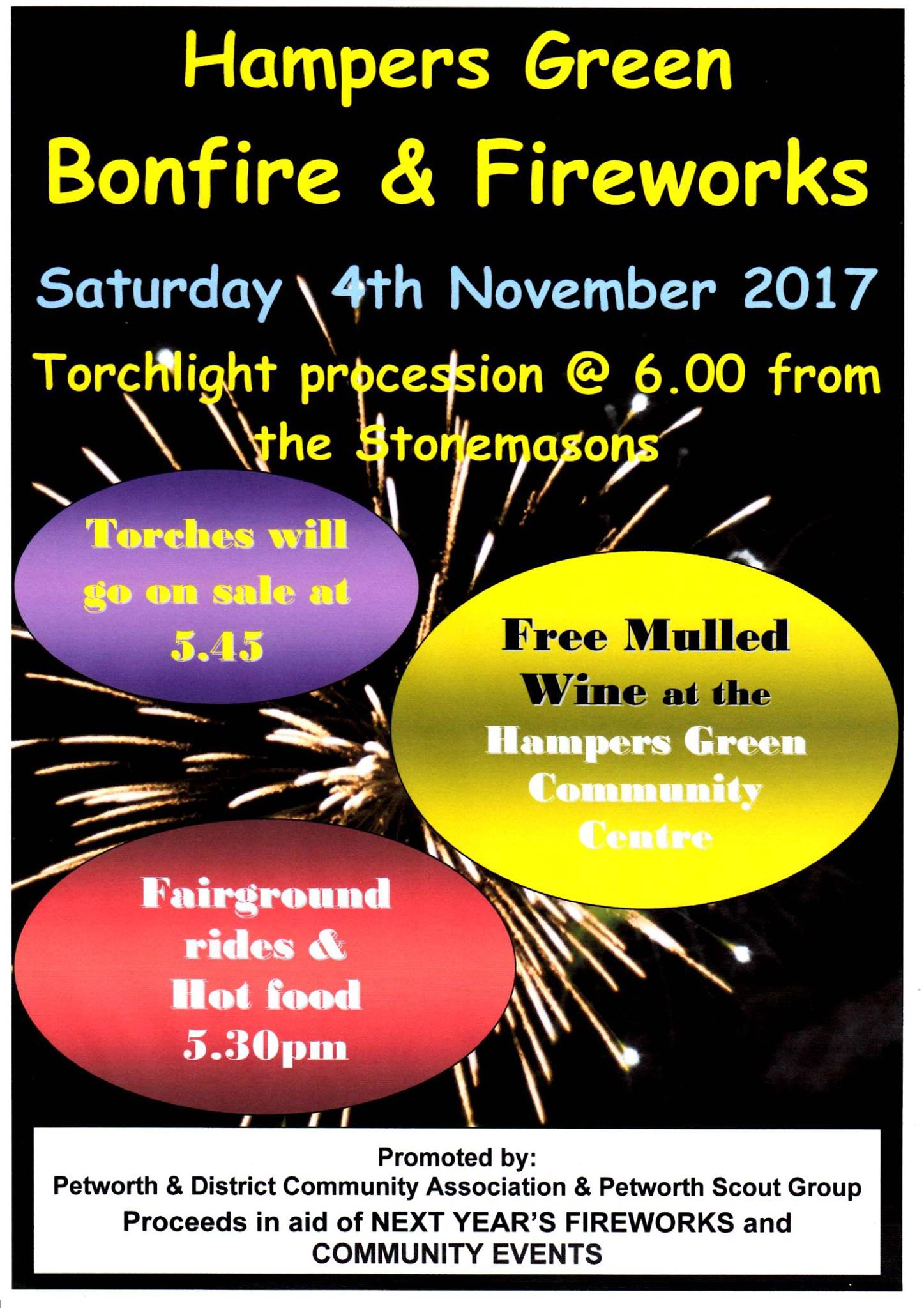 Hampers Green Bonfire and Fireworks