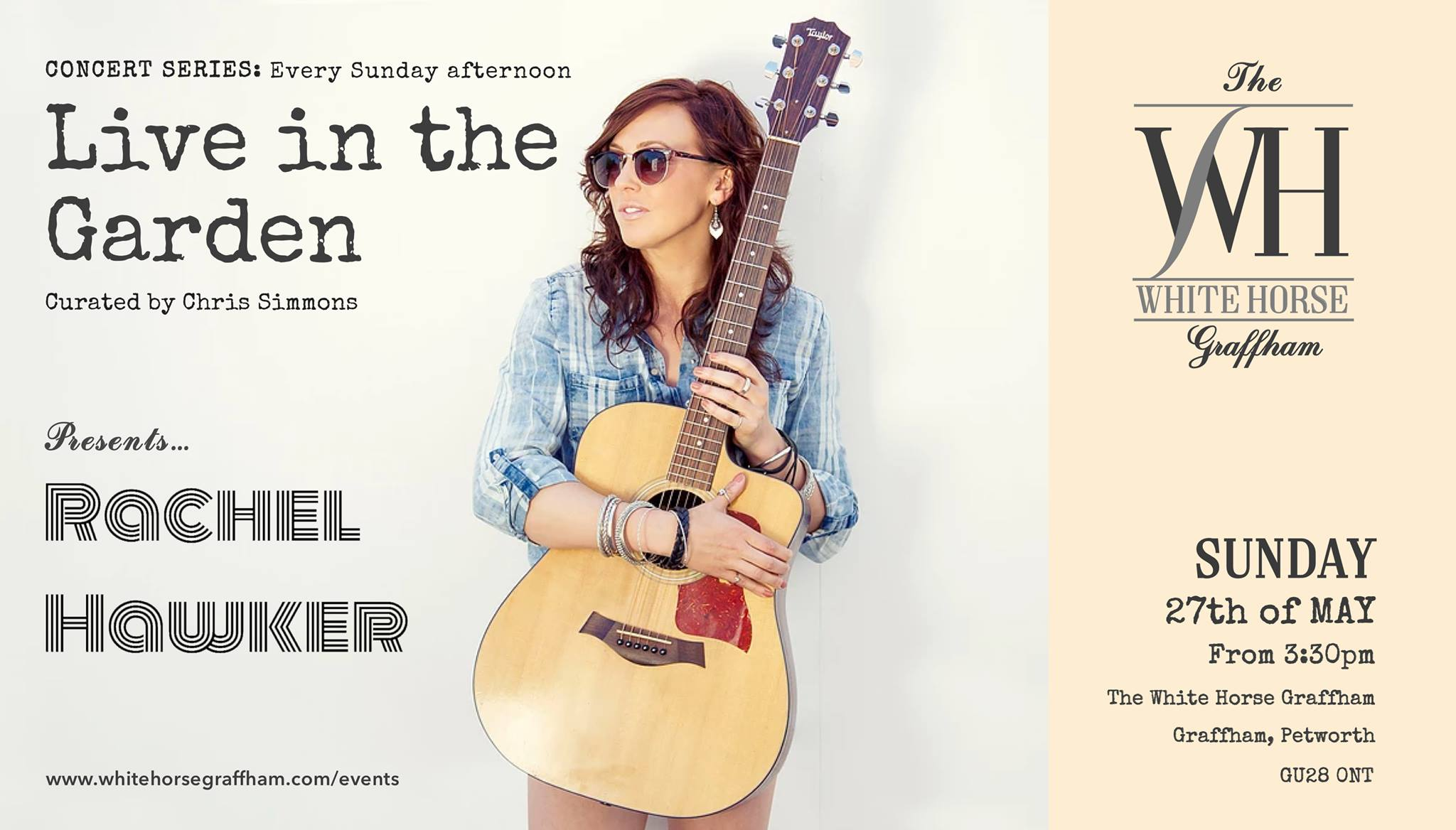 Concert Series: Live in the Garden w/ Rachel Hawker at the WHG