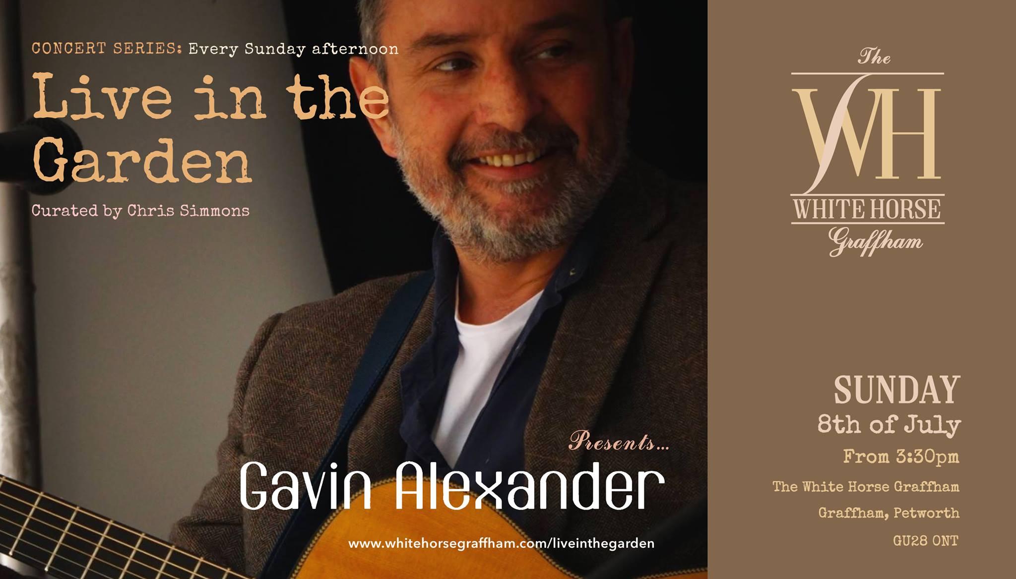 Live in the Garden' presents Gavin Alexander