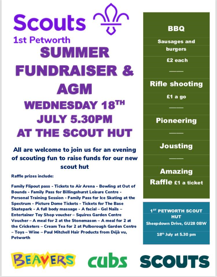 Summer Fundraiser and AGM