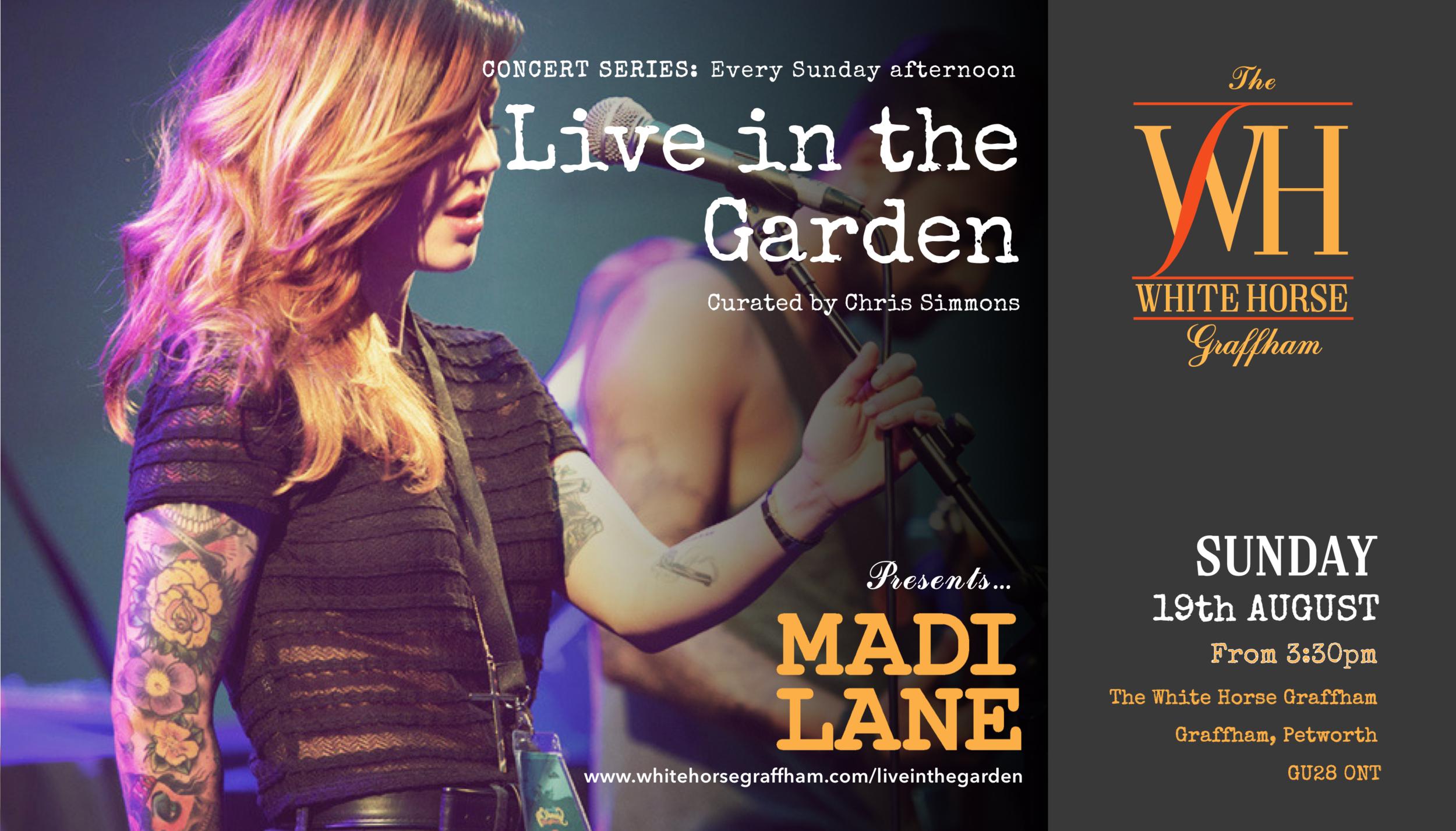 Madi Lane Live music White Horse Graffham