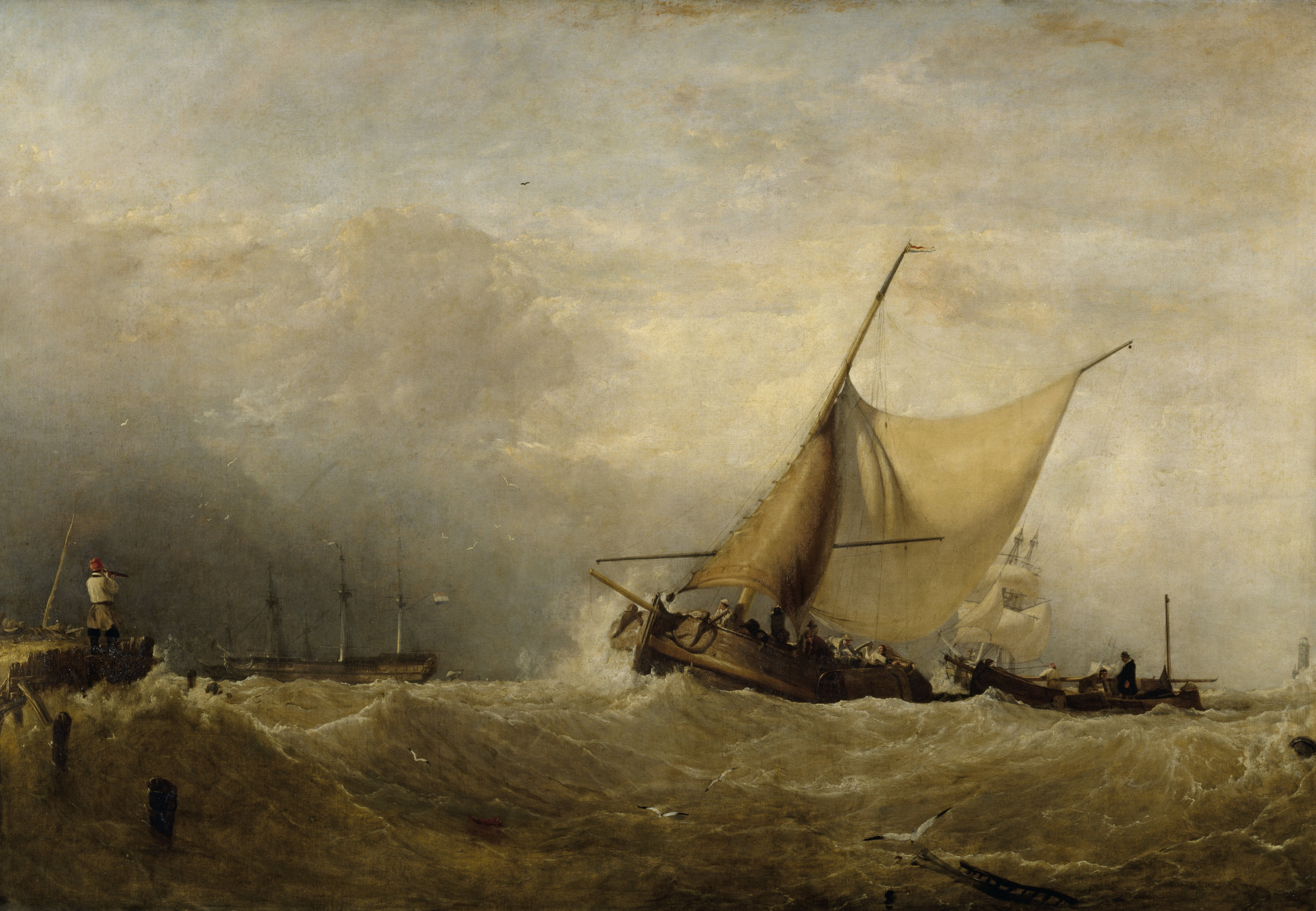 Heavy weather coming on, with vessels running to port, 1827 by Sir Augustus Wall Callcott (1779-1844) @National Trust Images.Derrick E. Witty.jpg
