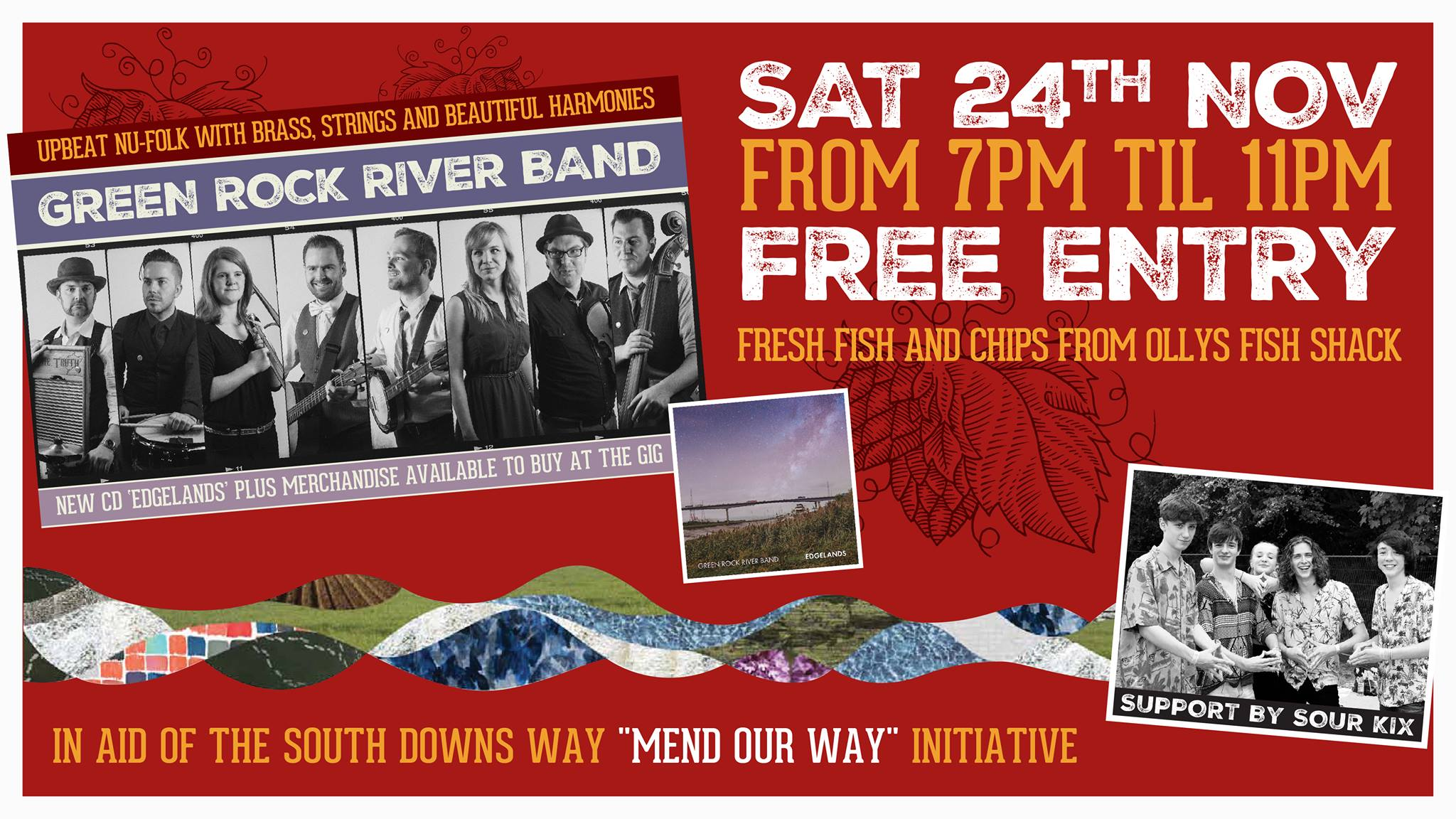 Green Rock River Band + Sour Kix