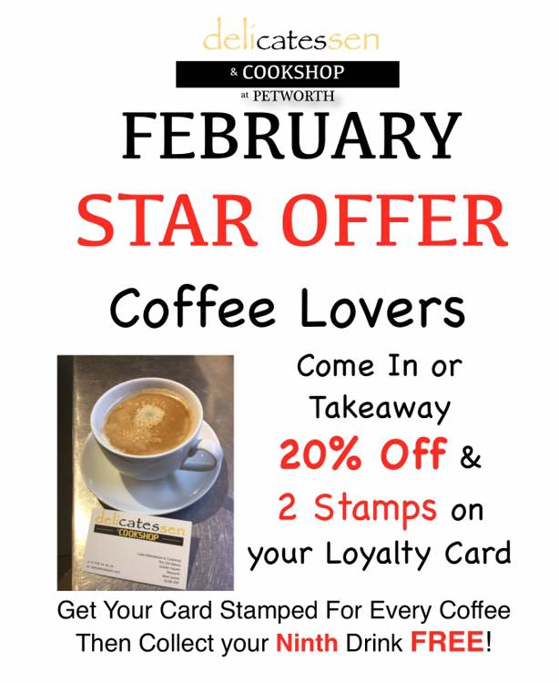 Coffee Lovers offer at Cates Deli