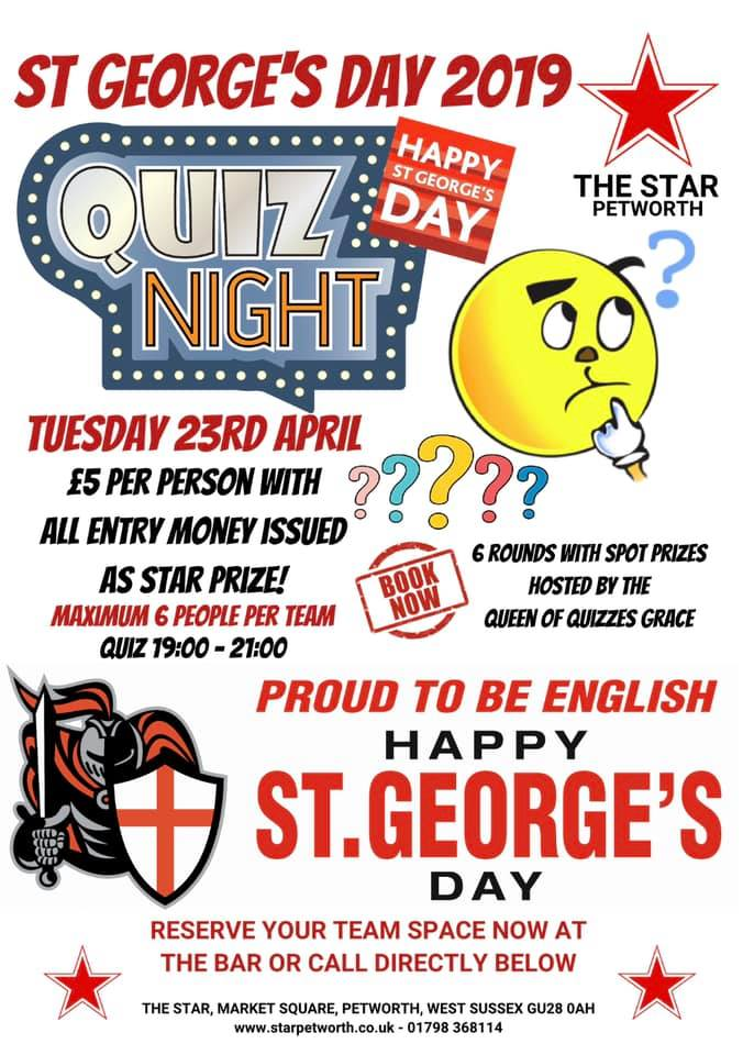 St George's Day 2019 Pub Quiz