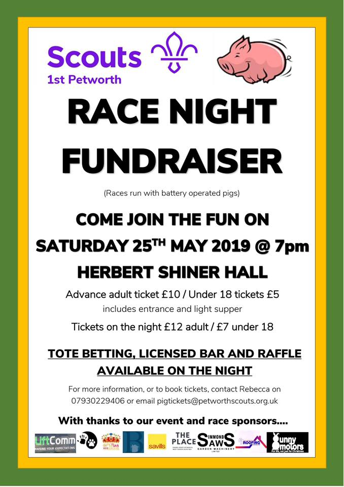 Race Night  Fundraiser  - 1st Scouts Petworth