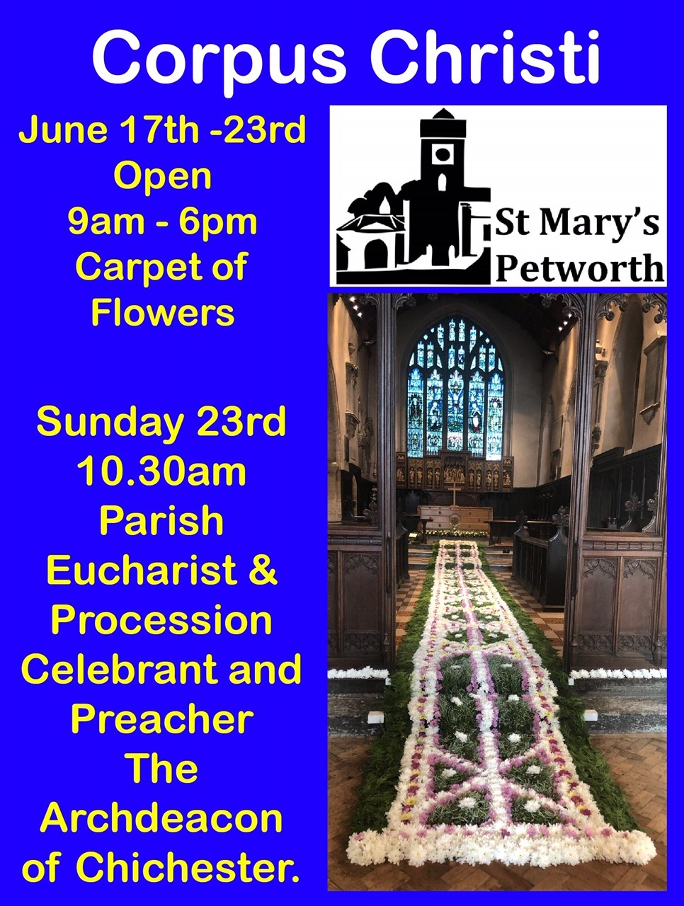 Corpus Christi Final.jpgCorpus Christi Carpet of Flower at St Mary's Church