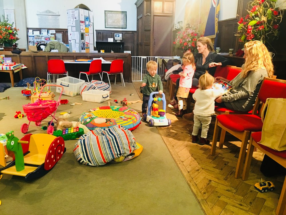 PARENTS AND TODDLERS AT ST MARYS CHURCH