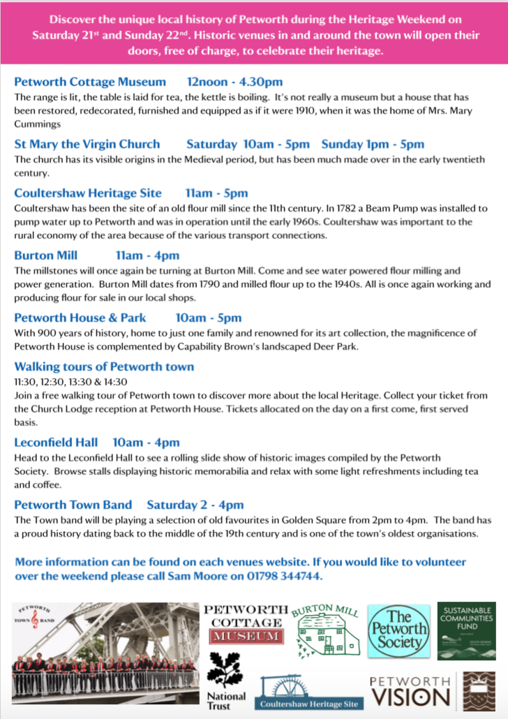 Heritage Open Day's in Petworth