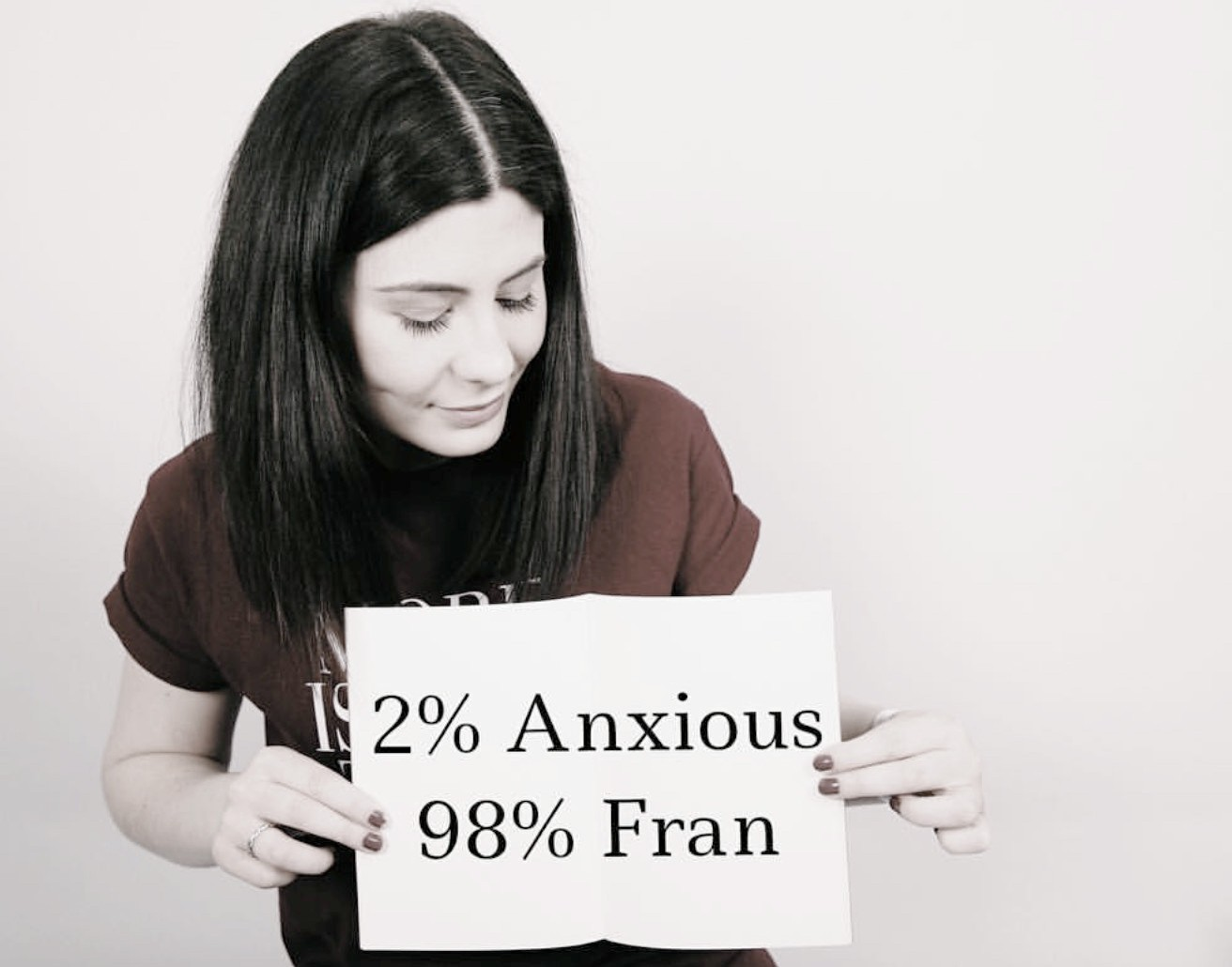 Anxious Fran   Fran has a surname, but to us all she is simply, Anxious Fran. Because that is what she is!  Fran writes beautifully and honestly about living with chronic anxiety, but somehow manages to do this while sounding - and looking - very calm indeed.  She also contributes to our features and 60-Seconds With column, and is a fabulous all -round Headcaser.