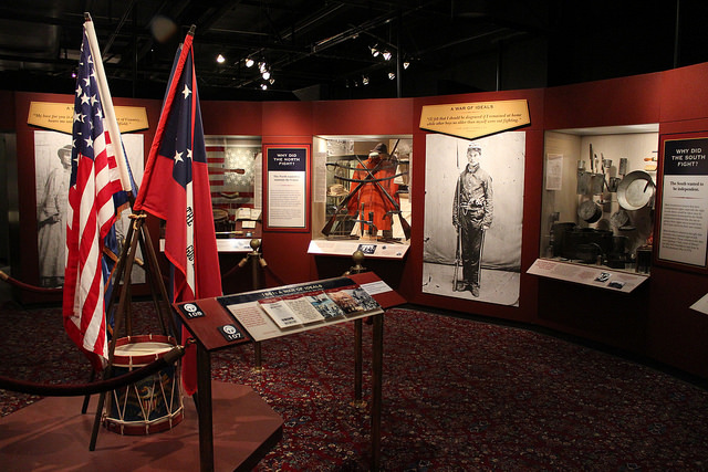"Atlanta History Center's Civil War exhibition ""Turning Point,"" where Anterior Leverett gave a tour on the morning of November 9th. (Photo: Atlanta History Center)"