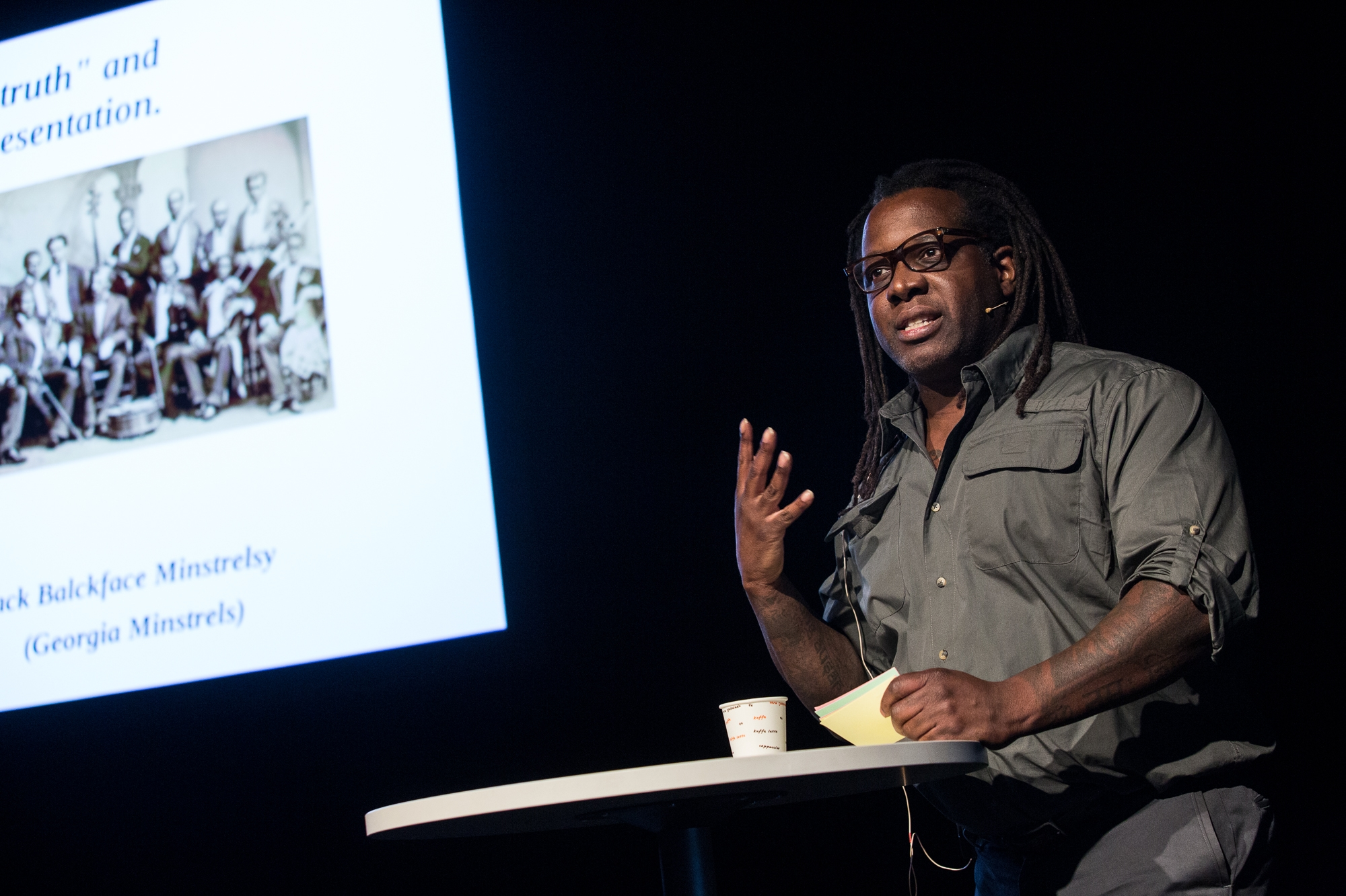 Addae Moon - Director of Museum Theatre at the Atlanta History Center (shown here speaking at the Ibsen Theatre Conference in Norway)