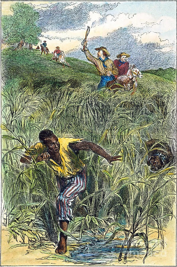 Addae Moon: Stories illustrating the agency of slaves should be mixed in with those of hopelessness.  (Illustration: New York Public Libary, artist unknown.)