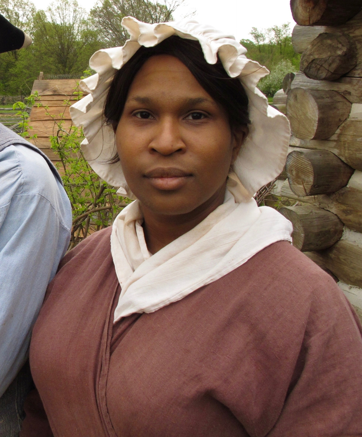 Shemika Berry works as a museum interpreter for Accokeek Foundation, but also has her own business portraying other historic black women for school audiences.