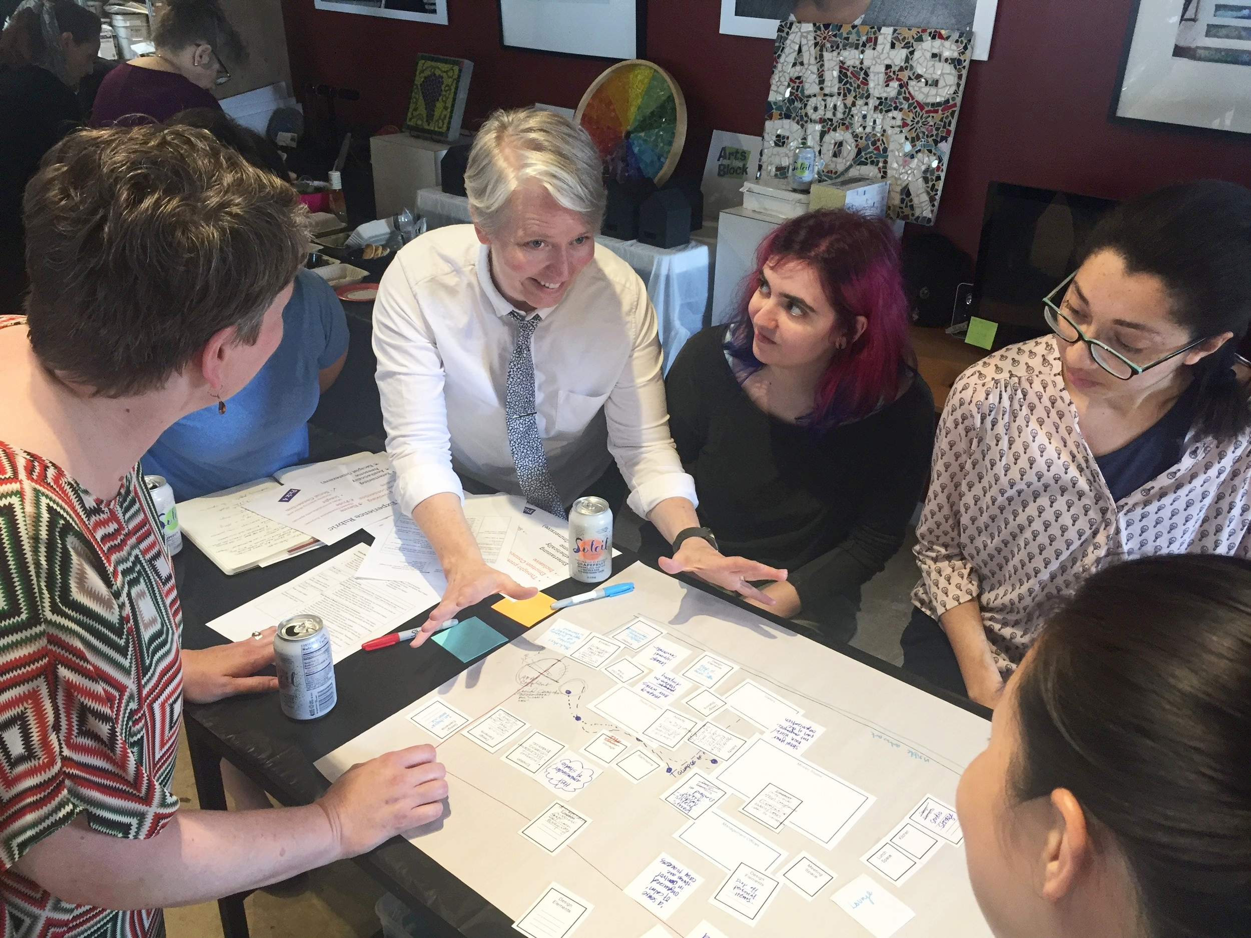 Using a customer experience rubric to design a mosaic-making space. Arts on the Block, 2018