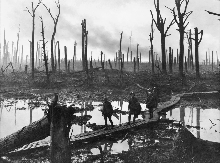 World War I Destruction Photo: James Francis Hurley / State Library of New South Wales