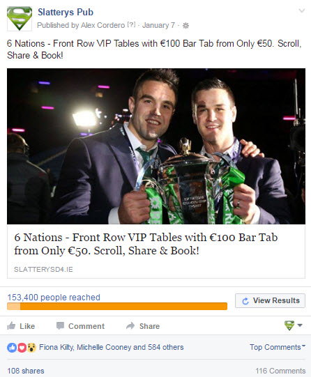 The only post required to promote the 2016 6 Nations. Every table sold and the most successful 6 nations  in revenue terms for 10 years.
