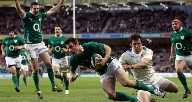 A wonderful day in 2011,  when we denied England a Grand Slam in the new Aviva Stadium
