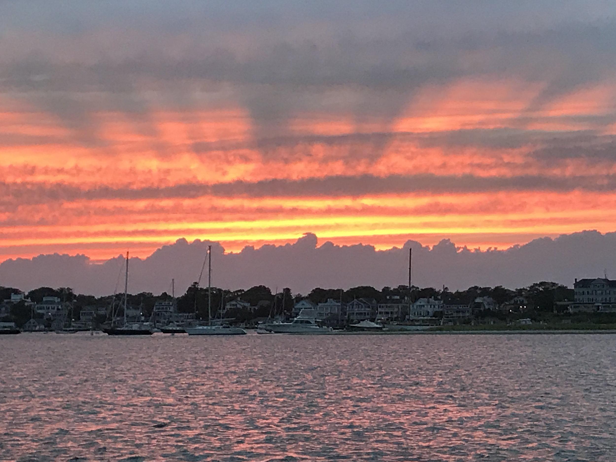 An intense sunset after a murderous writing day.