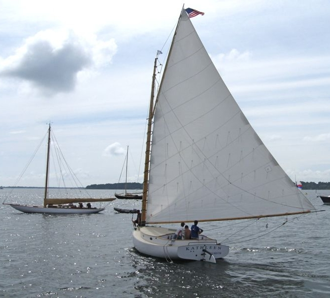 """Not the """"Kathleen"""" from Ocean Effect, but a beauty from the Herreshoff Regatta."""
