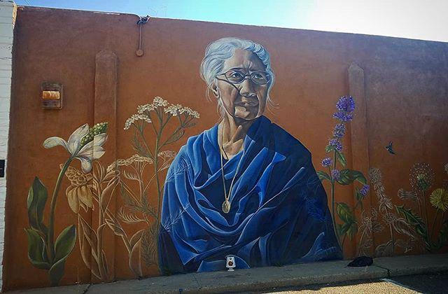 Maclovia Zamora mural by artist Nani Chacon (@nanibah) at the old B. Ruppe Drugs pharmacy in Barelas. Anyone know what they plan to do with this building?  #albuquerque #barelas #abq #mural #muralist #streetart #artmural #abqart #nm #nmart #nanichaconart