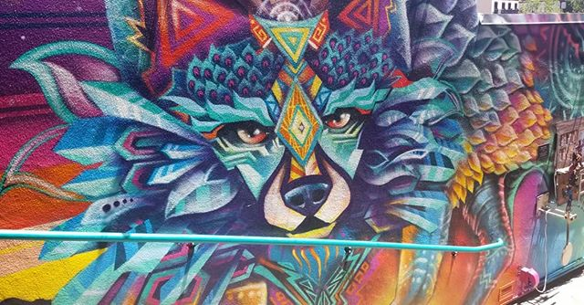 Another outrageous piece from @velaart in Santa Fe.  #velaart #artmural #muralist #murals #nmart #artmakers #nm #santafe