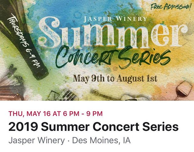 I'm very honored to be part of this terrific Summer Concert Series lineup for Jasper Winery. If you've never been to one of these concerts, you're missing out!  Hope to see lots of familiar faces next Thursday, May 16th. I will be there with the full band!! Chris Hansen - drums Don Brown - saxophone Tyler Huckfelt - bass  www.brianherrin.com