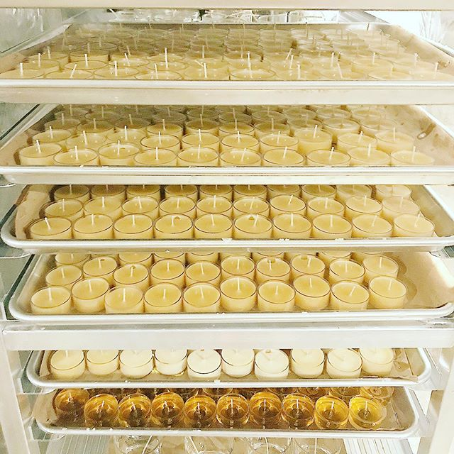 Only about 2,000 Beeswax tealights in production. 🐝 ☀️