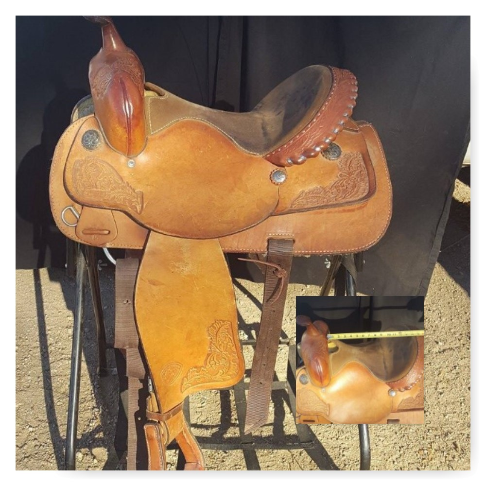 "Hard to find size - 13.5"" Hereford with nice, deep seat!"