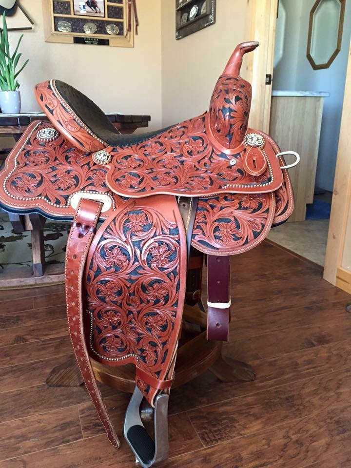 "Cactus Barrel Saddle 14""    Charmayne James    Lightly used   This saddle is a beauty!!"
