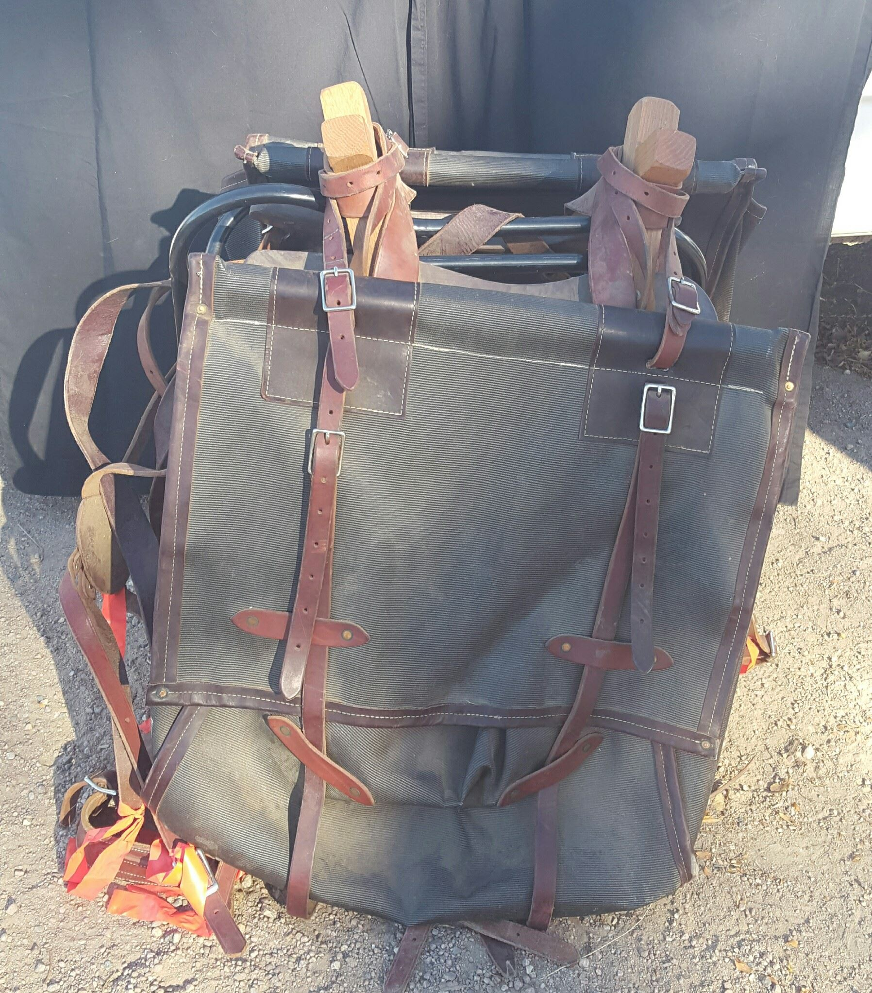Pack saddle with all cinches and straps