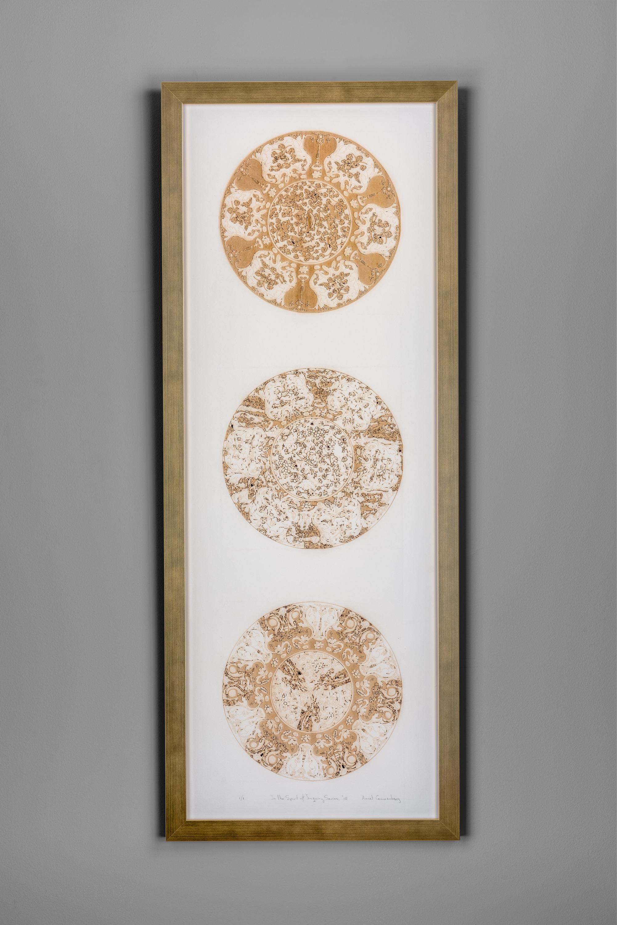"""In the Spirit of Inquiry Series, No. 3. Laser cut and engraved paper, 42""""x 16.5"""", 2019."""