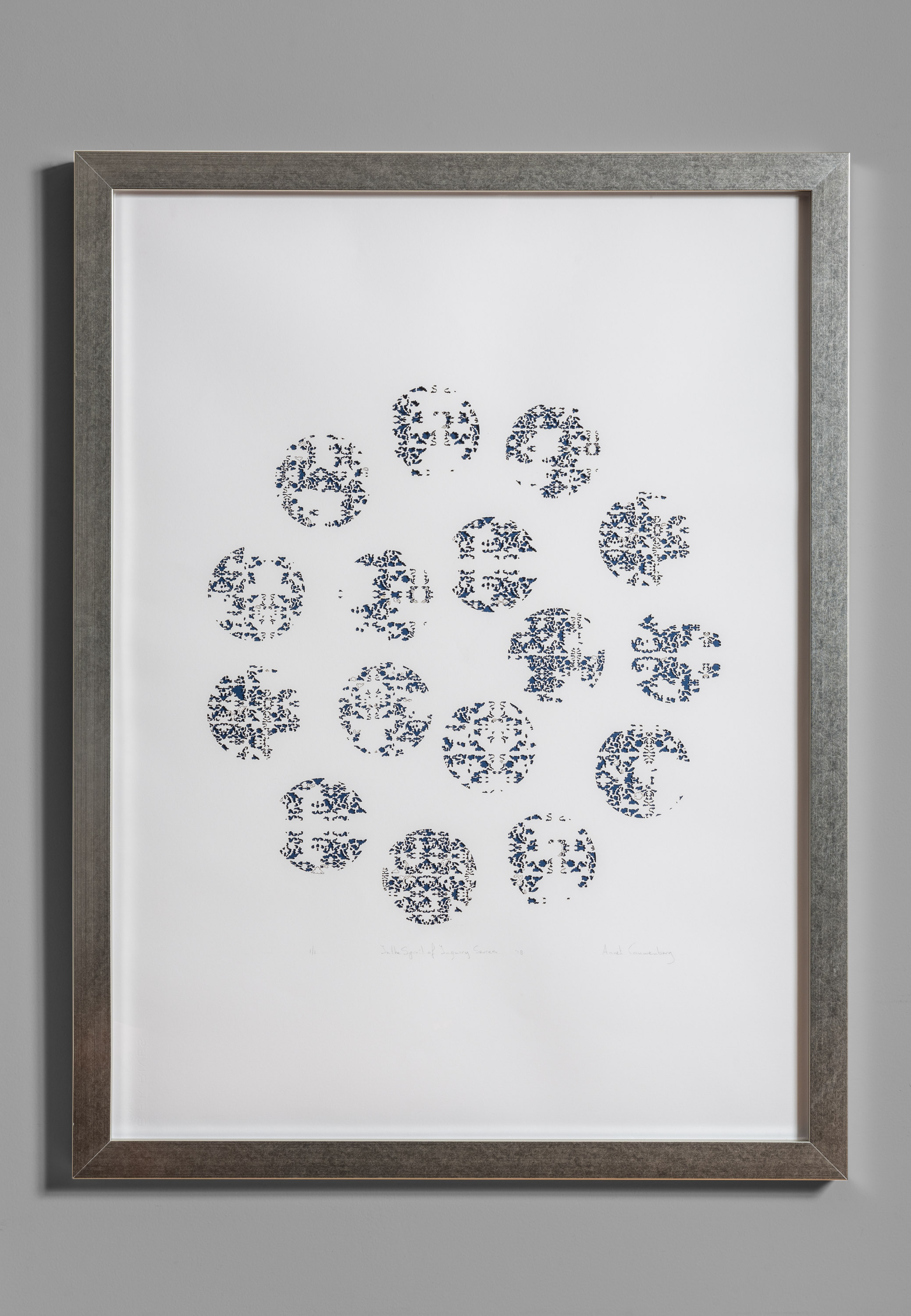 """In the Spirit of Inquiry Series, No. 6. Laser cut and engraved paper, 43""""x 32"""", 2019."""
