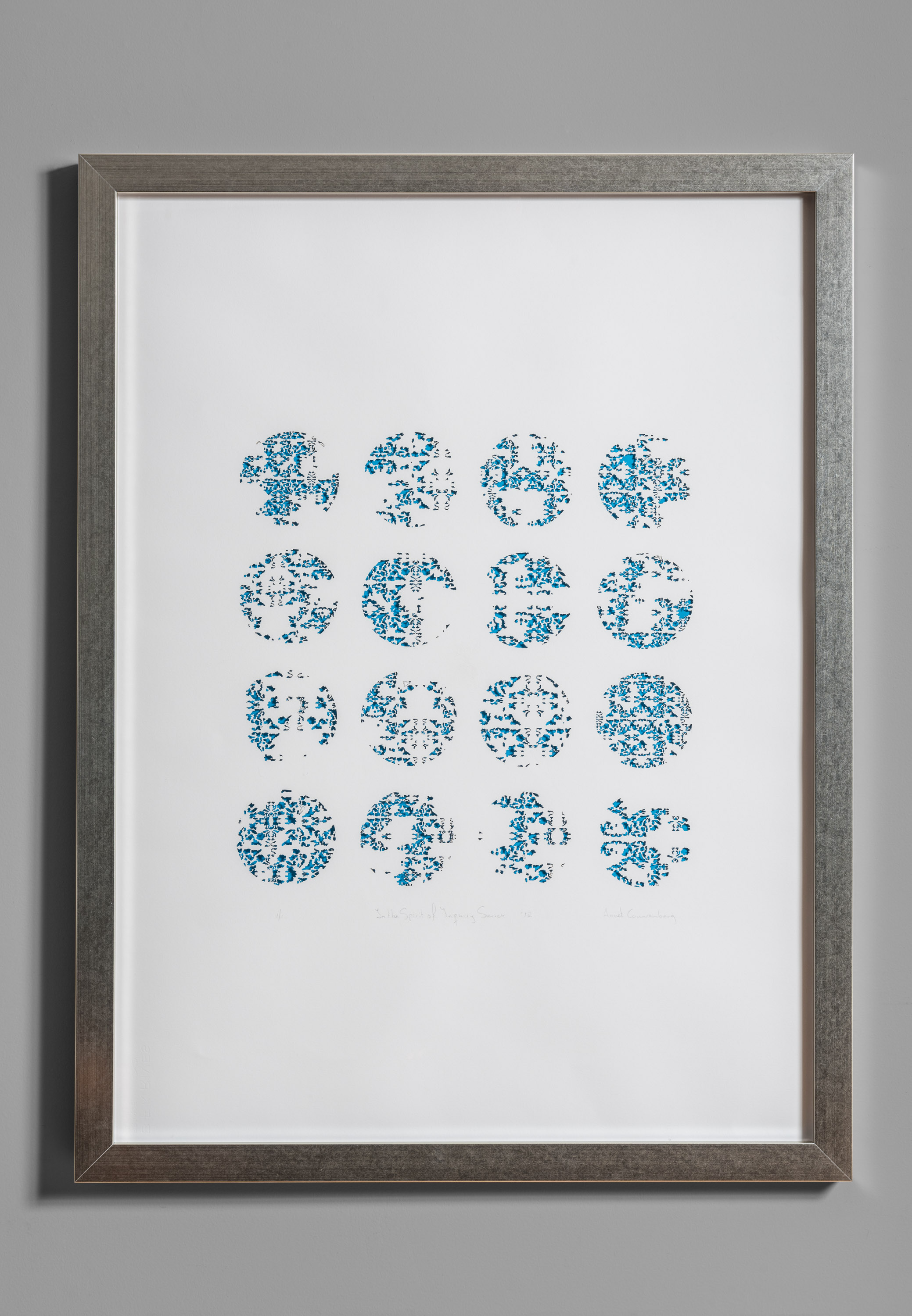 """In the Spirit of Inquiry Series, No. 4. Laser cut and engraved paper, 43""""x 32"""", 2019."""