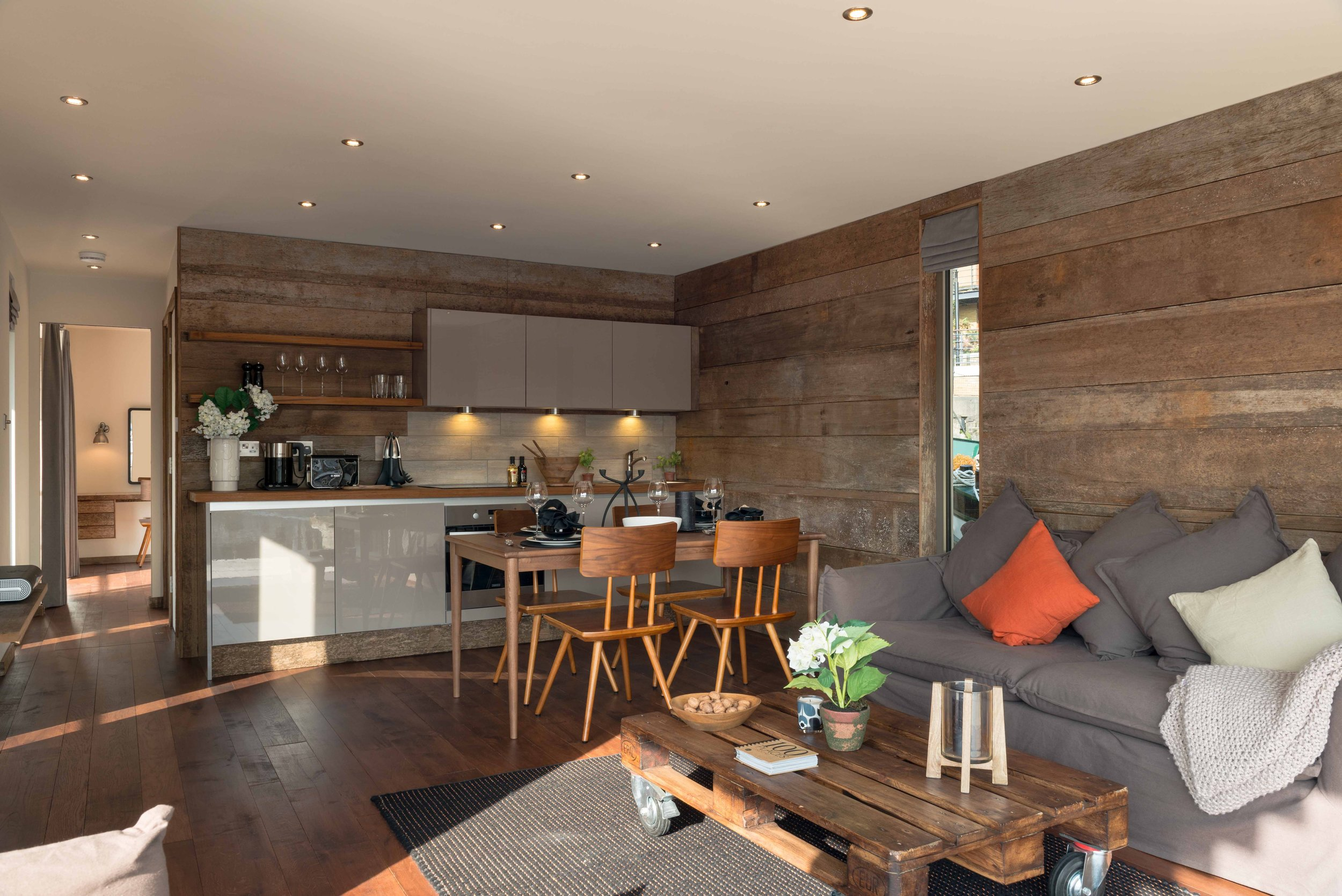 Interior using 100 year old dock timbers