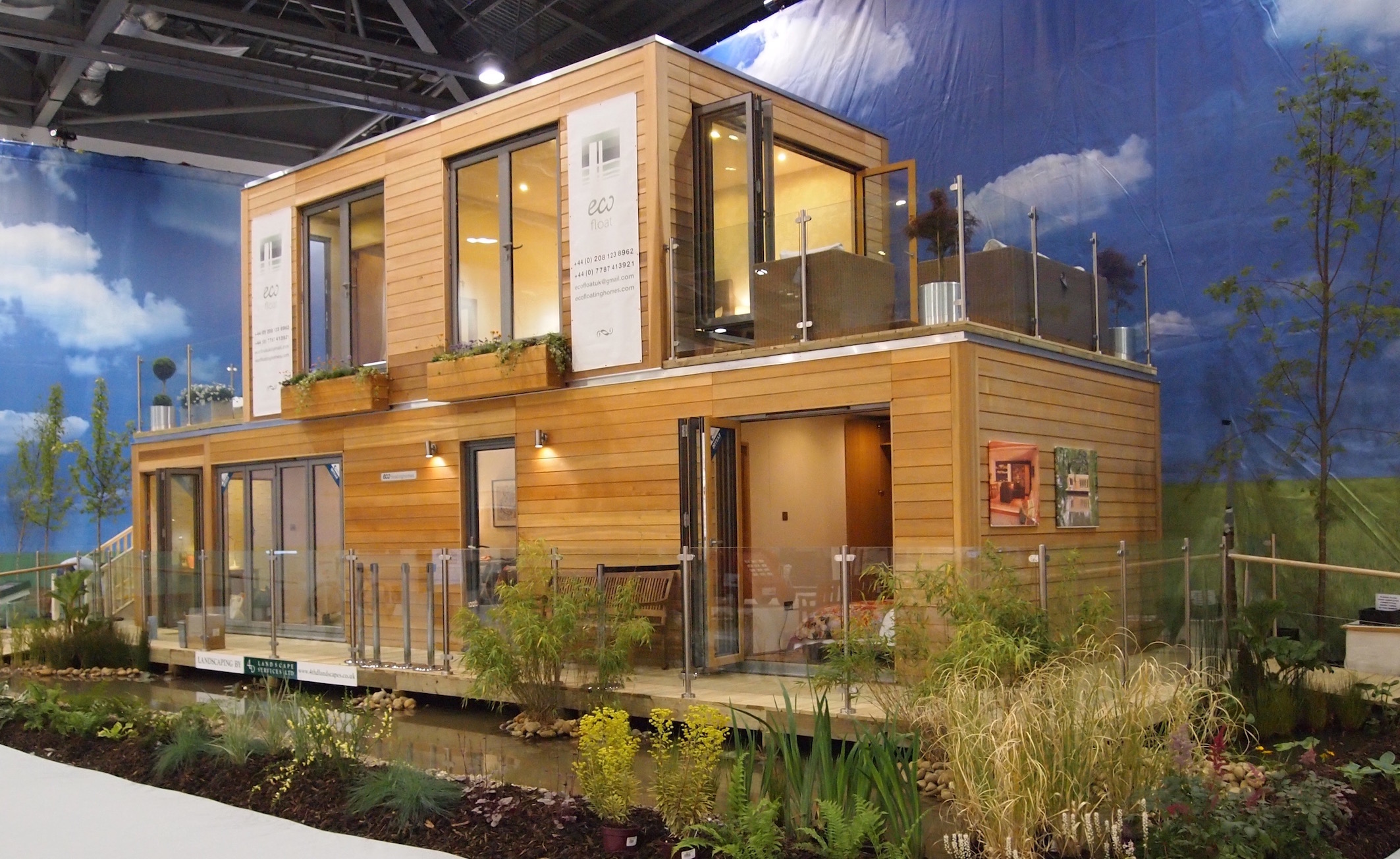 Eco floating homes 3 bedroom home