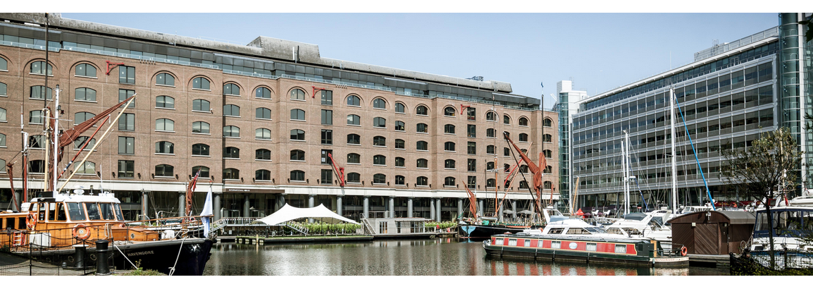 The Floating Hub at St Katharine Docks, a floating office for creatives