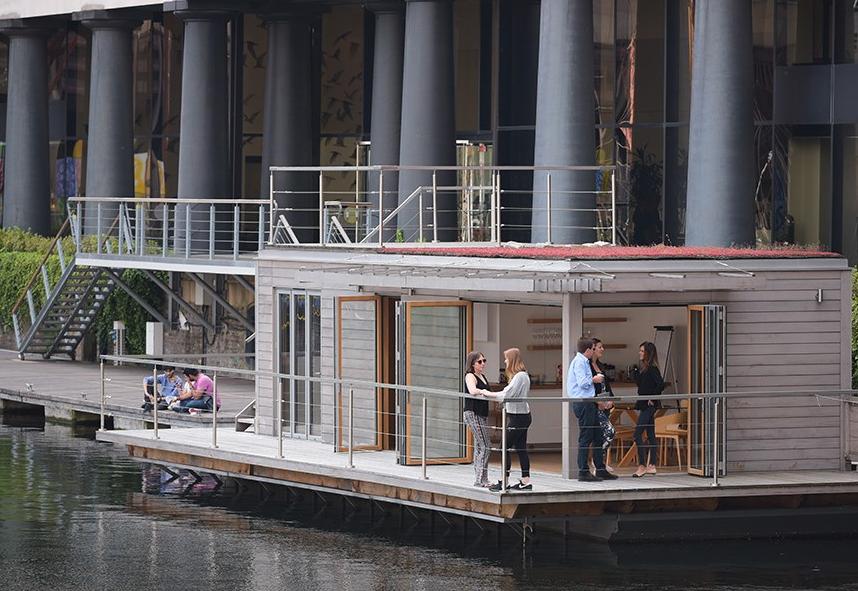 Creative Hub floating office St Katharine Docks