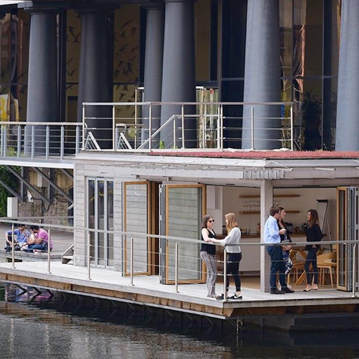 St. Katharine's Docks Floating Hub, by eco floating homes