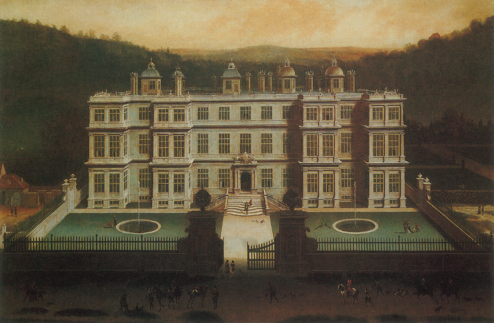 Longleat Roofscape, a 17th C painting by Jan Siberechts.