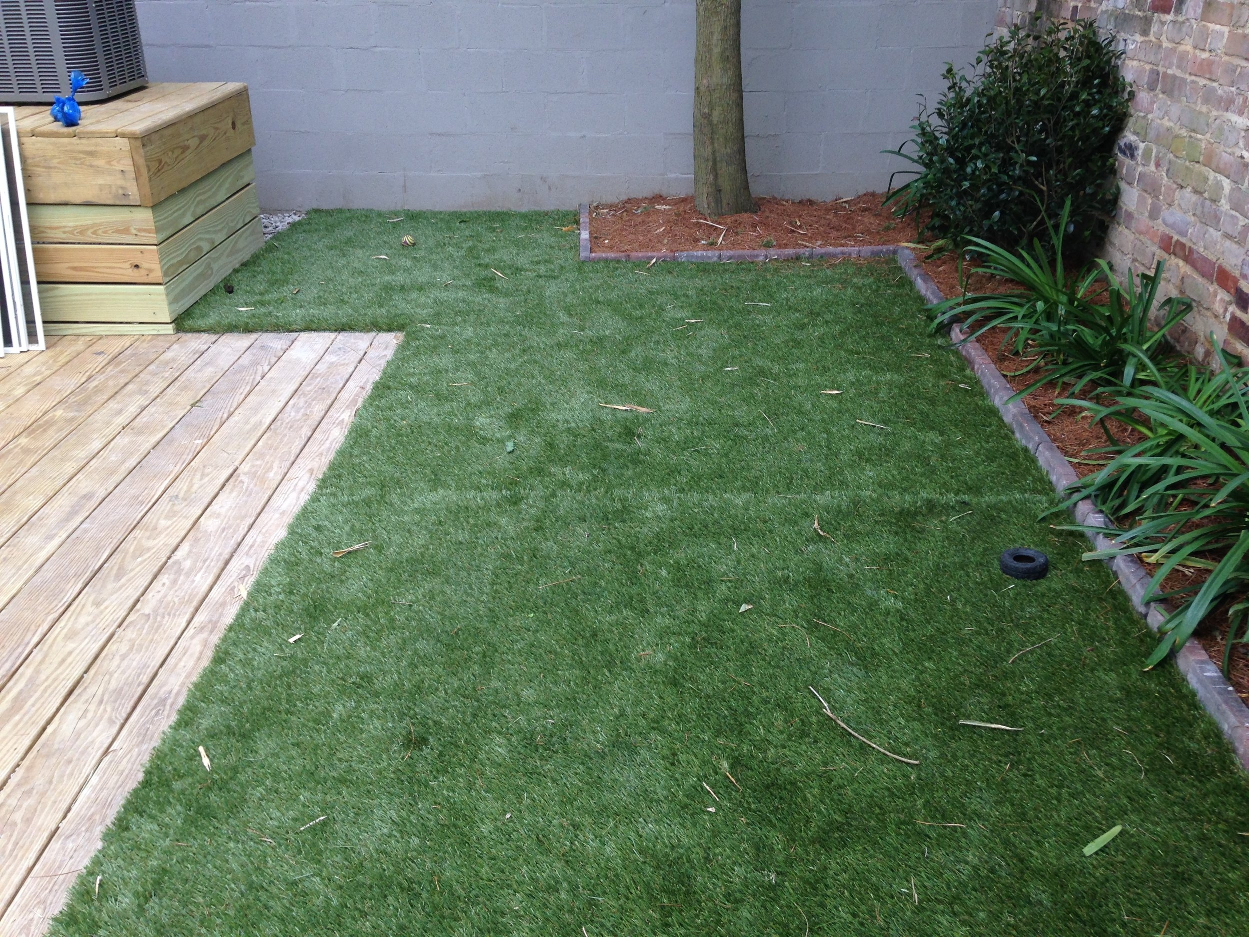 Turf Grass Residential Install New Orleans