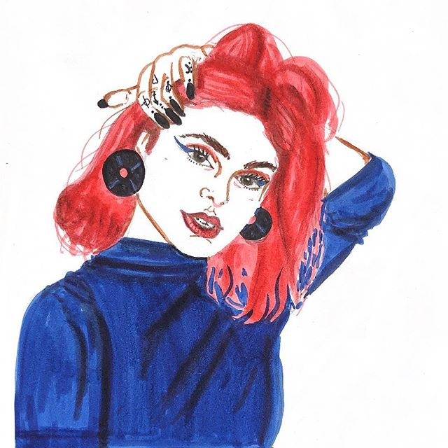 ilysm @womanteria for drawing this incredible funky recreation of one of my selfies 😭♥️ but you've also restarted my colour craving and now i wanna go red or blue or orange or somEONE STOP ME PLS I WANNA LIVE MY HAYLEY WILLIAMS FANTASY ALL OVER AGAIN