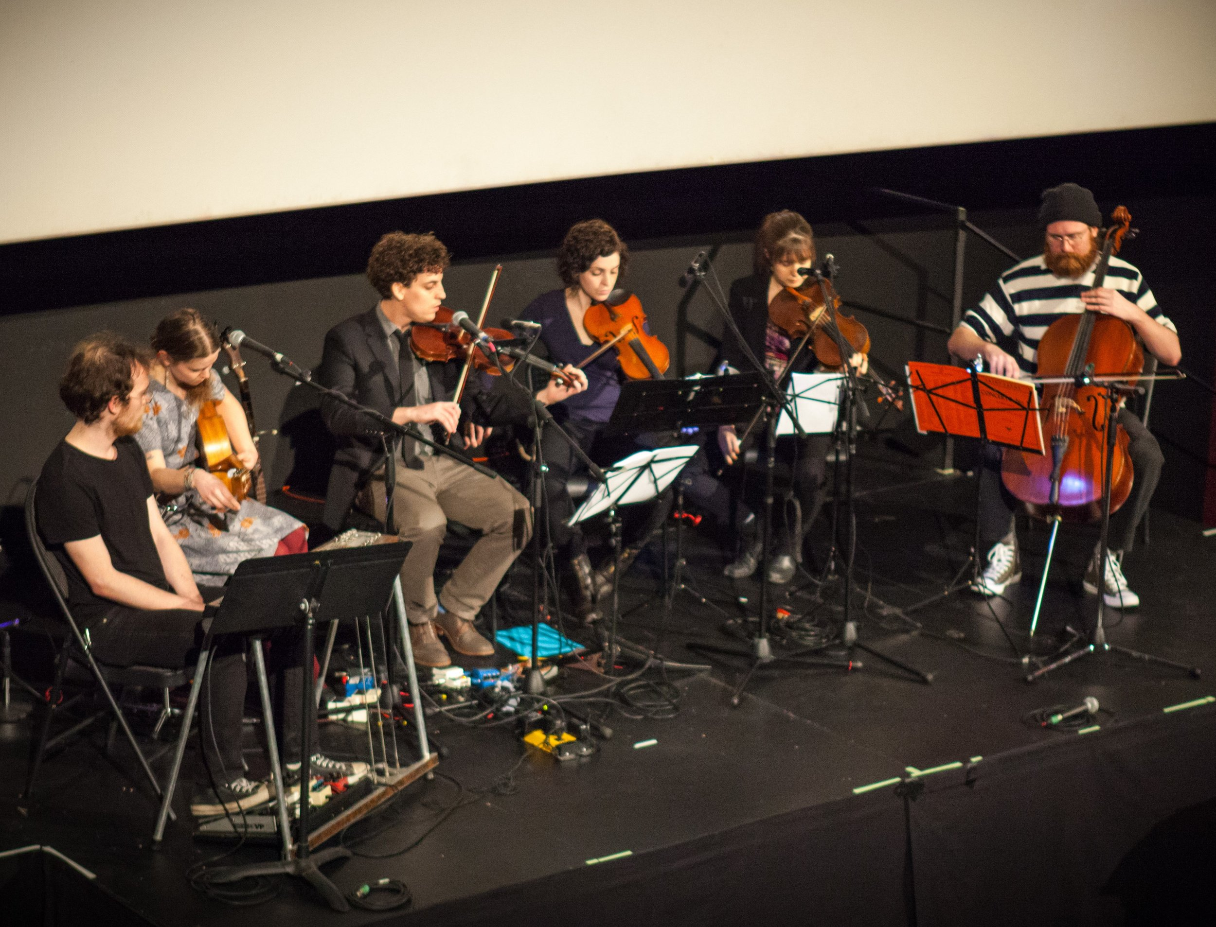 Musicians playing pieces composed by Anthony William Wallace while in the Yukon as a participant in    The Peel Project    ,  a film shown on Opening Night at the 2017 Water Docs Film Festival.