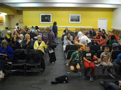 """Screening of the Water Brothers Series episode called """"Bottlegate"""" at the Owen Sound Public Library."""