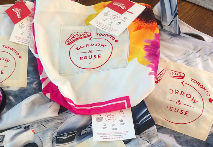 Boomerang Bags Toronto takes unwanted textiles and turns them into reusable bags meant to circulate around the community. They teach people valuable sewing skills while reducing textile and plastics waste.