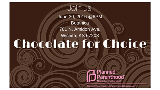Chocolate for Choice invite with Planned Parenthood