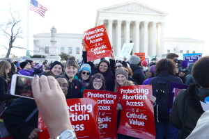 Catholics for Choice at DC rally